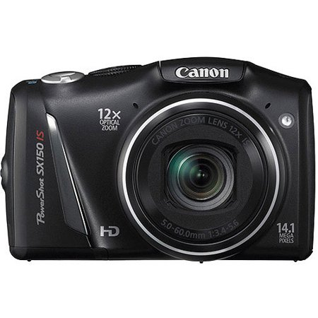 Canon PowerShot SX150 IS 14.1 MP Digital Camera with 12x Image Stabilized Zoom 28 mm Wide-Angle Lens