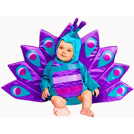 Beautiful Baby Peacock Costume - Unique!   one size fits child wearing 6-18 month - Peacock Toddler Costume