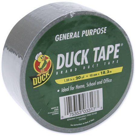 Duck Brand 240365 Original Strength Silver Duct Tape, 1.88 Inches by 20 Yards
