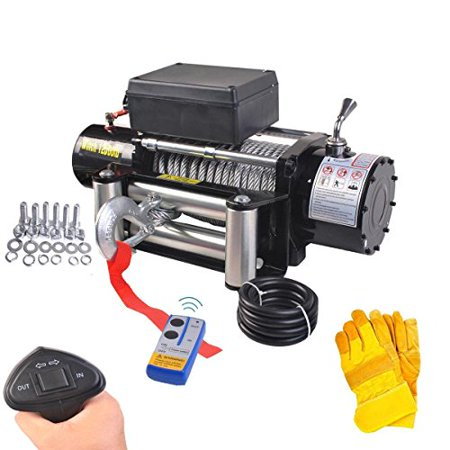 GHP 12V Truck Classic 12500lbs Electric Recovery Wireless Remote Winch w (Wireless Winch)