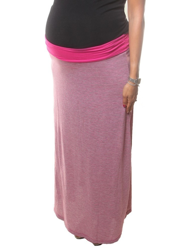 Love My Belly Women Fuchsia Long Ankle Length Maternity Skirt M by Love My Belly