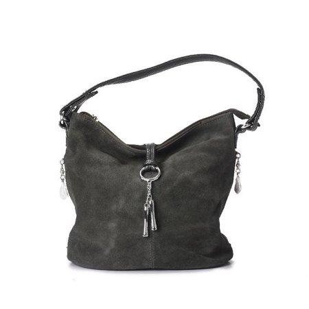 b1bb500097e 2017 Fashion Women Split Leather Shoulder Bag Female Suede Casual ...