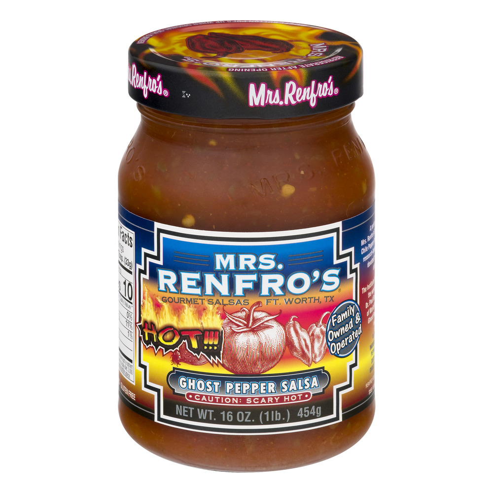 Mrs. Renfro's Gourmet Salsas Ghost Pepper Salsa Caution: Scary Hot, 16.0 OZ