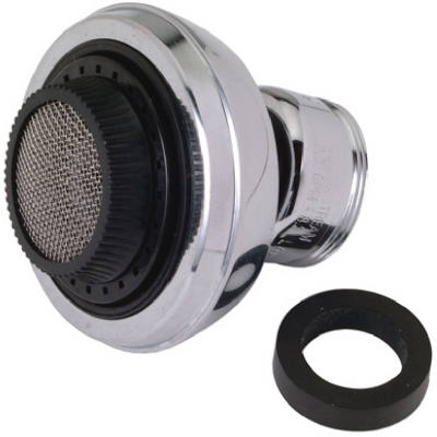 "Faucet Aerator, Chrome-plated, 55/64 &15/16""X27-THD, Brass Craft, SF0077X"