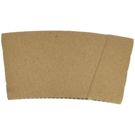 Hot Cup Sleeves (Cup Jackets) for 8oz Paper Coffee Cups, 50 Count Coffee Cup Holder Sleeves Traditional Jackets (Natural (Paper Coffee)