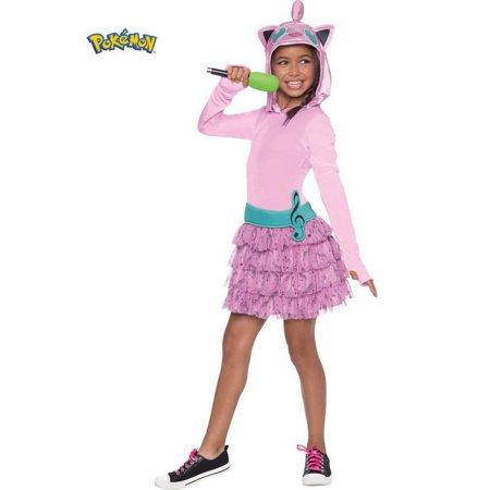 Rubies Costume 270783 Pokemon Girls Jiggly Puff Hooded Costume - Pokemon Girl Costumes
