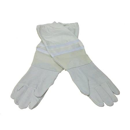 Medium Beekeeping Gloves, Goatskin Bee Keeping with vented sleeves VIVO (BEE-V103M)