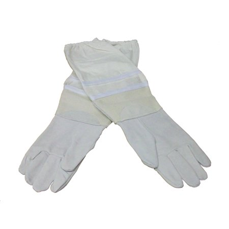 New XL Large Beekeeping Gloves, Goatskin Bee Keeping with vented sleeves VIVO