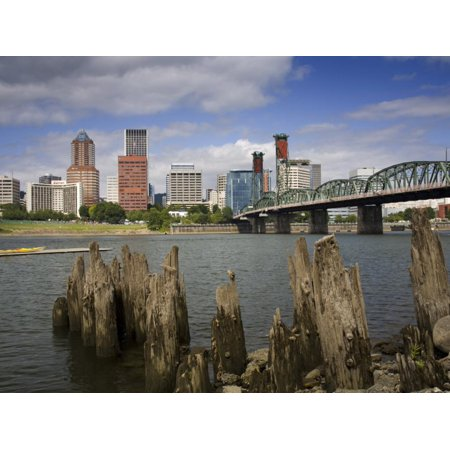 Hawthorne Bridge over the Willamette River, Portland, Oregon, United States of America Print Wall Art By Richard (Longest Bridge In The United States Over Water)