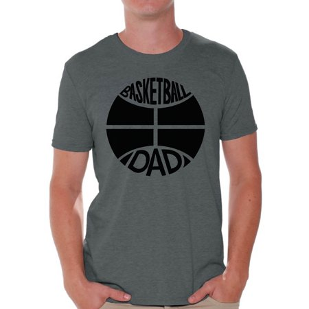Awkward Styles Men's Basketball Dad Graphic T-shirt Tops Black Sport Father`s Gift Idea