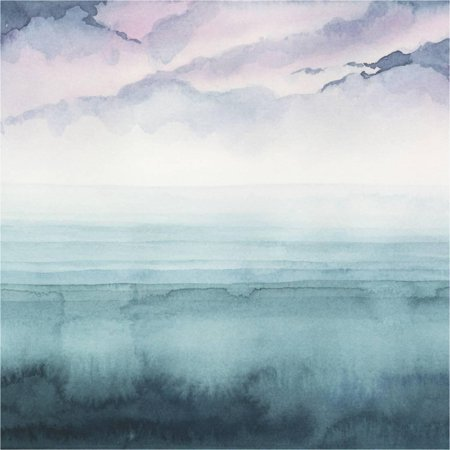 Dusk on the Bay II Watercolor Beach Ocean Coastal Painting Print Wall Art By Grace (Beach Watercolor)