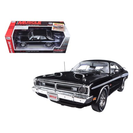1971 Dodge Demon 340 Black   Hemmings Muscle Machines   Limited Edition To 1002Pc 1 18 Diecast Model Car By Autoworld