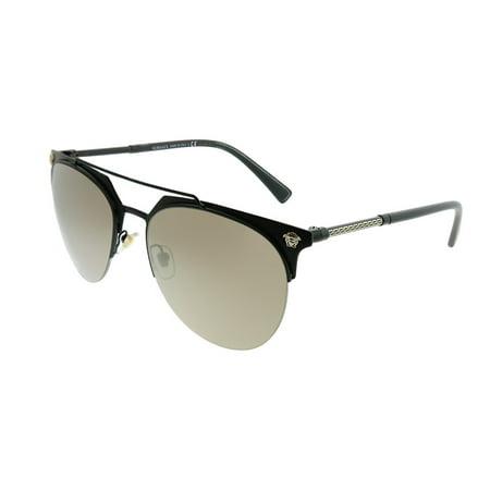8289e8116e Versace - Versace VE 2181 12615A 57mm Unisex Aviator Sunglasses -  Walmart.com