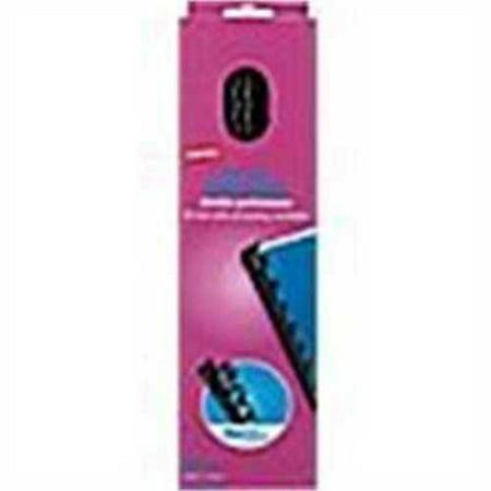 Staples Plastic Comb Binding Spines, 3/4 Diameter, 150 Sheets, 25 Pack, Black