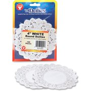 Hygloss Round Doilies, White, 1 Pack (Quantity)