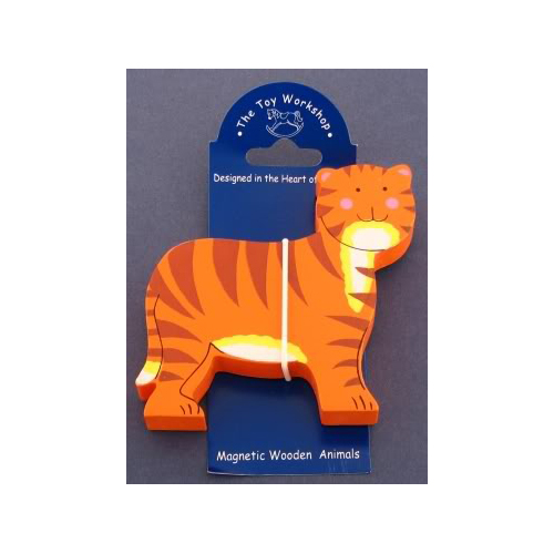 Magnetic Wooden Tiger Magnet by The Toy Workshop