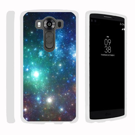 Pro Hard Coating (LG V10 | G4 Pro, [SNAP SHELL][White] Hard White Plastic Case with Non Slip Matte Coating with Custom Designs - Colorful Galaxy)