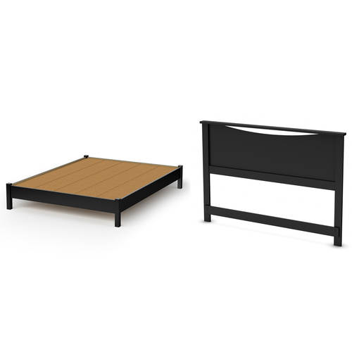 south shore soho queen platform bed and headboard set multiple finishes