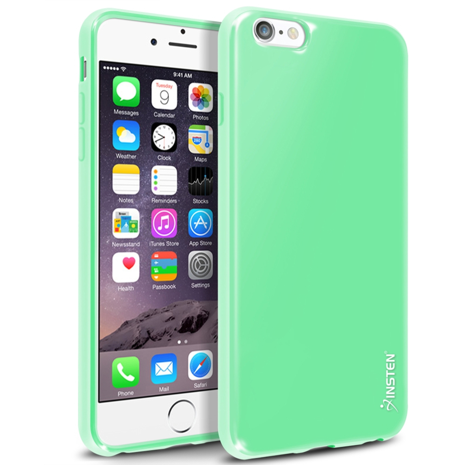 "Insten Mint Green Shockproof Ultra Thin Soft Rubber TPU Case Cover For iPhone 6 Plus / 6S Plus 5.5"" inch"