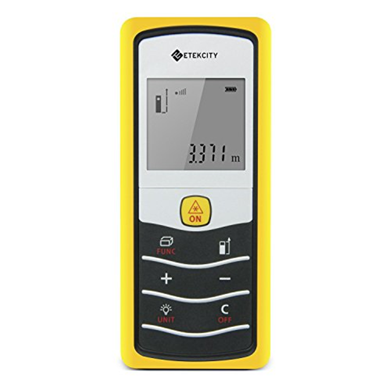 Etekcity Layout-Smart Class II Laser Distance Measurer,164-Feet (Yellow)