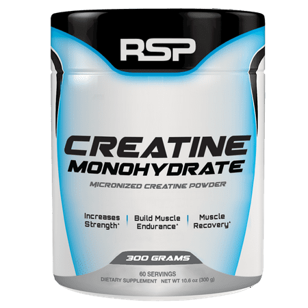RSP Nutrition Creatine Monohydrate, Pure Micronized Powder, Increased Strength, Muscle Recovery & Performance,