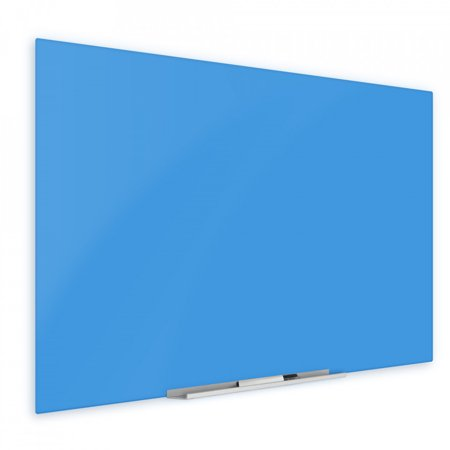 """Floating Blue Glass Board 36"""" X 60"""" Inches Eased Corners"""