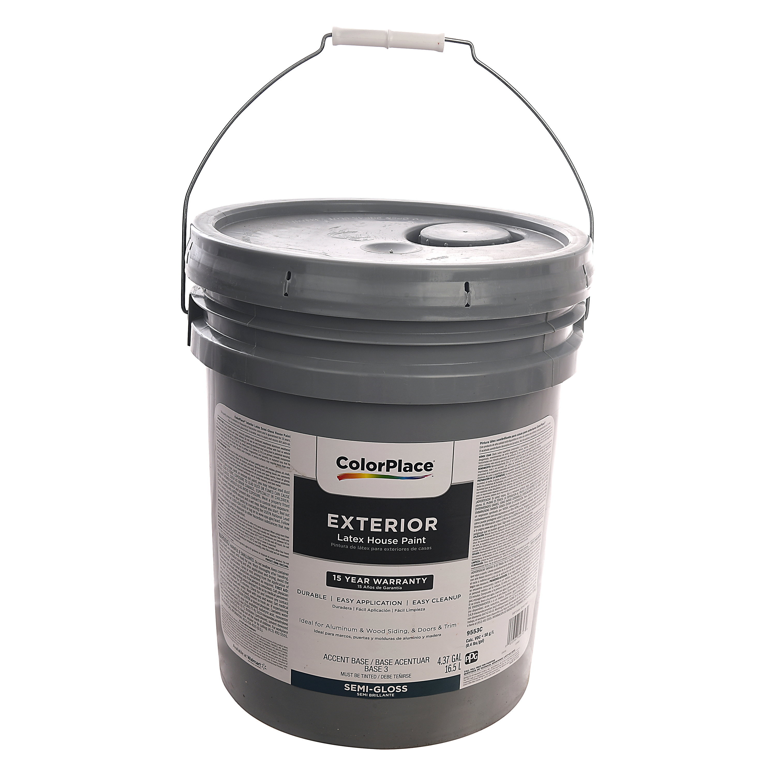 colorplace exterior latex house paint 5 gallon semi gloss walmart inventory checker brickseek. Black Bedroom Furniture Sets. Home Design Ideas