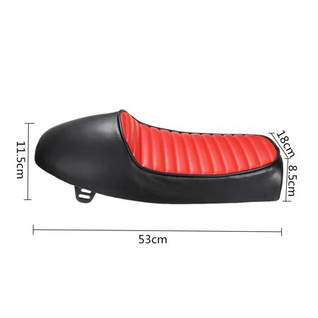 Universal MOTO Retro Vintage Red Hump Saddle Cafe Racer Seat Motorcycle Custom Cover Cushion For  CG125 Professional Design motorcycleaccessorie for Long Time Riding - image 5 of 9