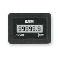 ENM T1141BB Hour Meter,LCD,Flush Mount,LCD,6 Digit