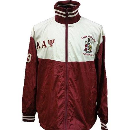 e1f8f43b6 Buffalo Dallas Kappa Alpha Psi Shield Embroidered Mens Track Jacket  [Crimson Red/White - XL]