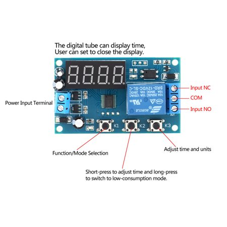 Multifunction Delay Time Module Switch Control Relay Cycle Timer DC 12V - image 2 of 7