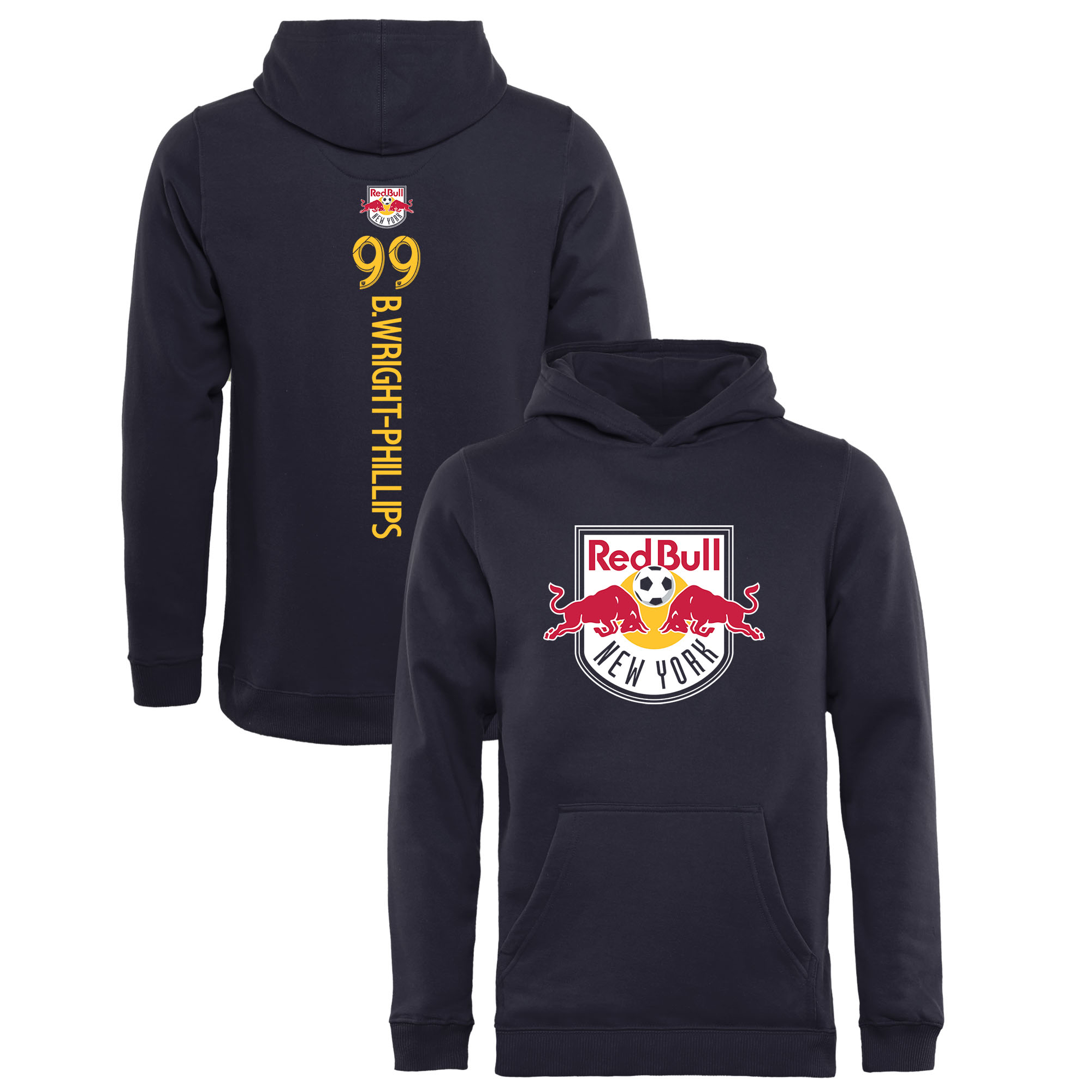 Bradley Wright-Phillips New York Red Bulls Fanatics Branded Youth Backer Name & Number Pullover Hoodie - Navy