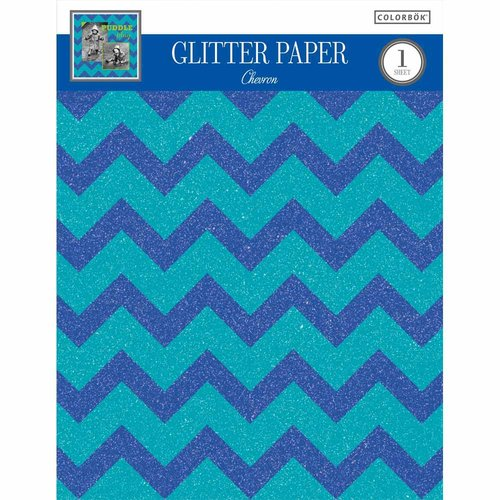 "Colorbok 8.5"" Glitter Paper Assortment, Chevron, 2pk"