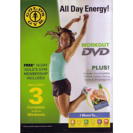 Golds Gym All Day Energy Workout Dvd By Golds Gym
