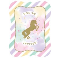 Sparkle Unicorn Invitations, 8 pk