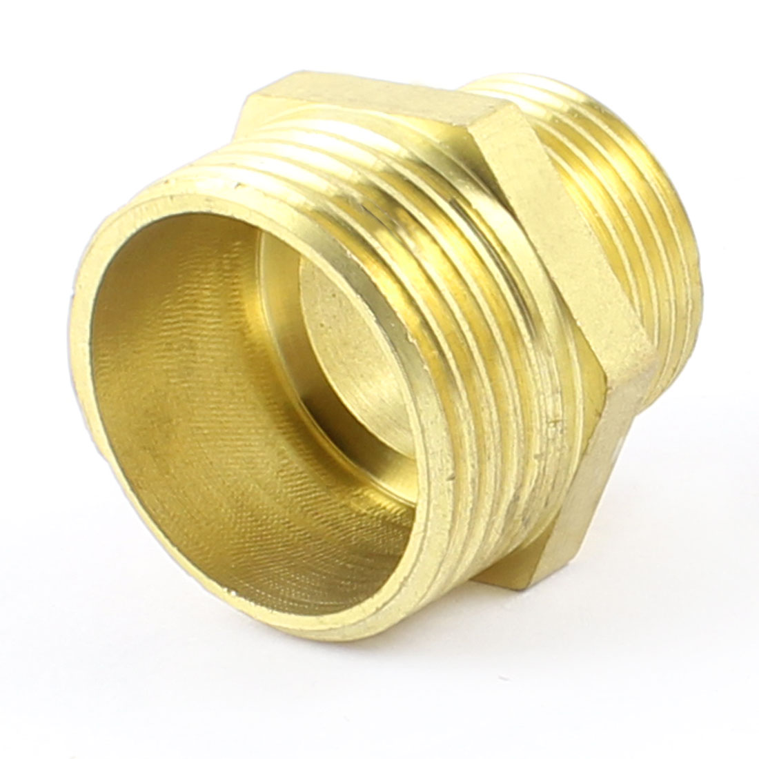 "1"" PT to 3/4"" PT Male Flare Hex Hose Nipple Reducing Connector Fitting"