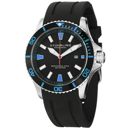 Men's 706.02 Aquadiver Regatta Quartz Date Blue Accent Rubber Strap Diver Watch