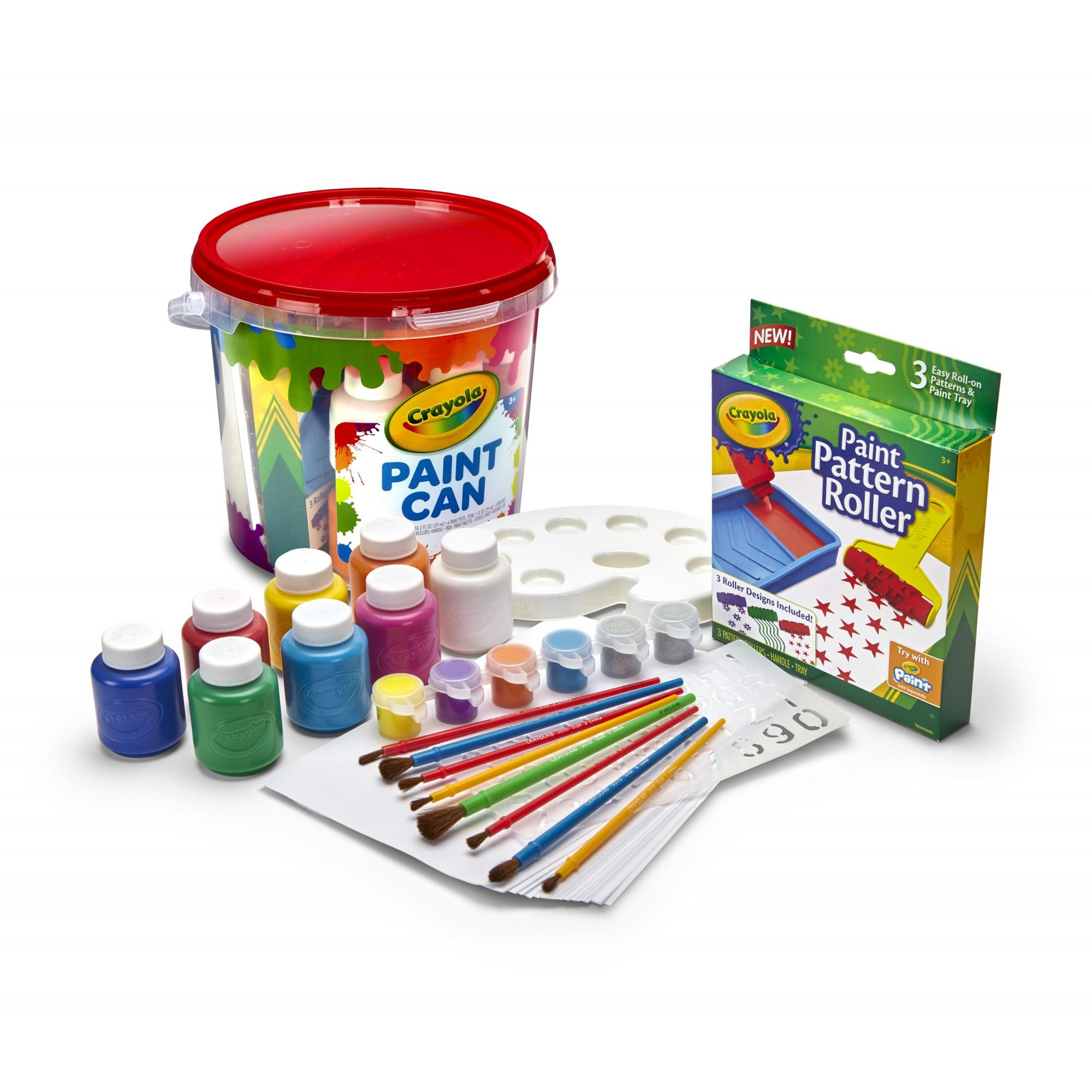 Crayola All-in-One Creative Paint Can, Red Great Gift for Kids by Crayola