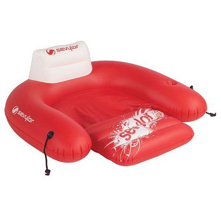Sevylor inflatable 1 person pool floating chair for Floating fishing chair