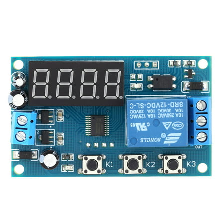 Fan Timer Relay (Multifunction Delay Time Module Switch Control Relay Cycle Timer DC 12V )