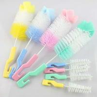 Fancyleo 2 Pack Baby Bottle Brush and Nipple Cleaner Brush (2 Pcs/Pack) Random Color