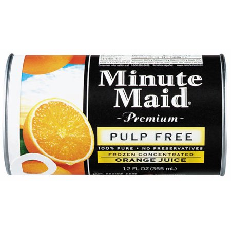 Minute Maid Premium Pulp Free 100% Orange Juice Frozen ...