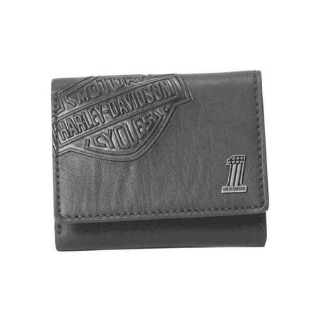 Harley-Davidson Mens Bar & Shield Classic Trifold Wallet, Black CR2352L-Black, Harley Davidson (Mens Harley Davidson Wallets)