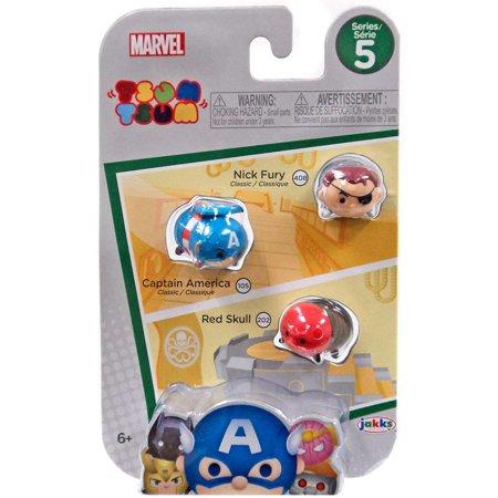 Marvel Tsum Tsum Series 5 Nick Fury, Captain America & Red Skull Minifigure 3-Pack