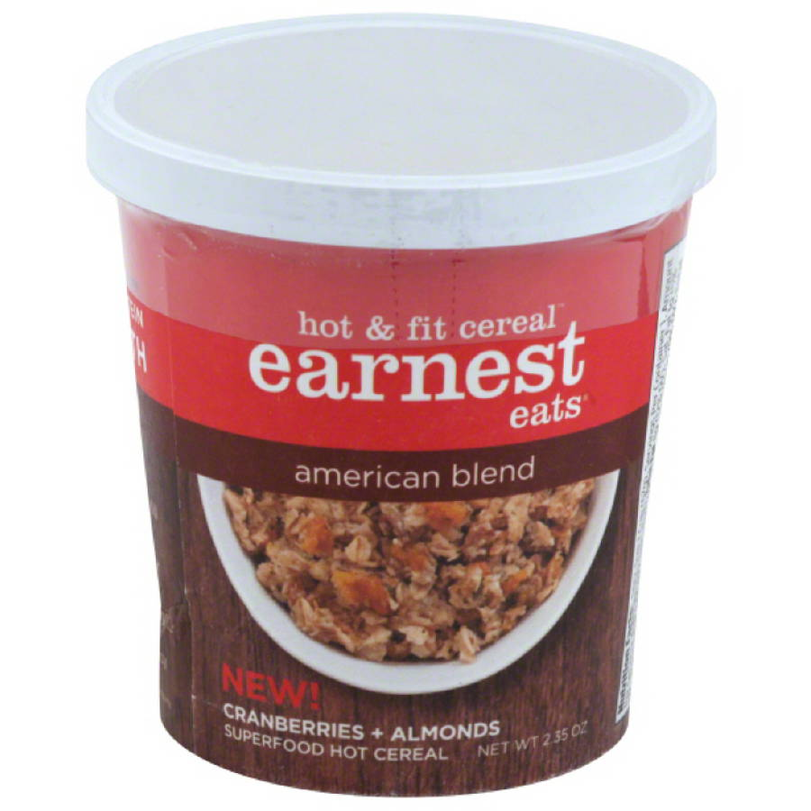 Earnest Eats American Blend Hot & Fit Cereal, 2.35 oz, (Pack of 12)