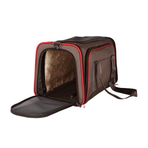 Aleko Heavy Duty Expandable Pet Carrier for Travel Medium Brown by ALEKO