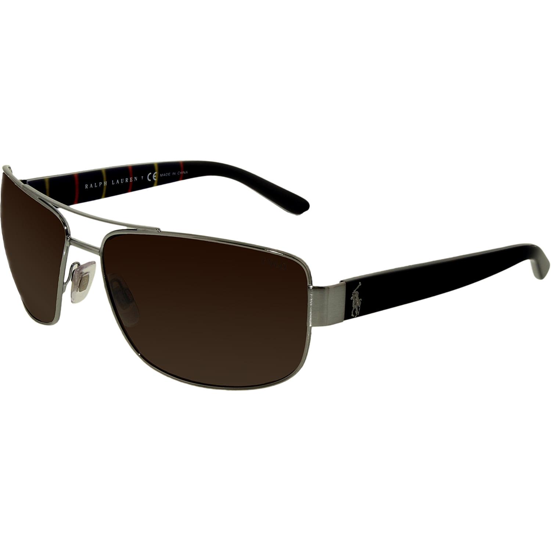 65a9d51d4bad Polo Ralph Lauren - Polo Men's PH3087-915773-64 Silver Rectangle Sunglasses  - Walmart.com