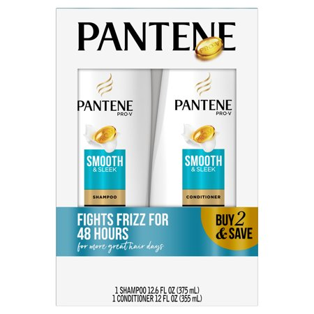 Pantene Pro-V Smooth & Sleek Shampoo and Conditioner Bundle