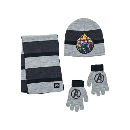 Boys Avengers Hat, Glove, and Scarf Set