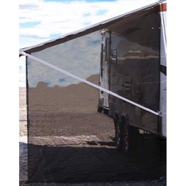 Tentproinc RV Awning Side Shade 9'X7' - Black Mesh Screen ...